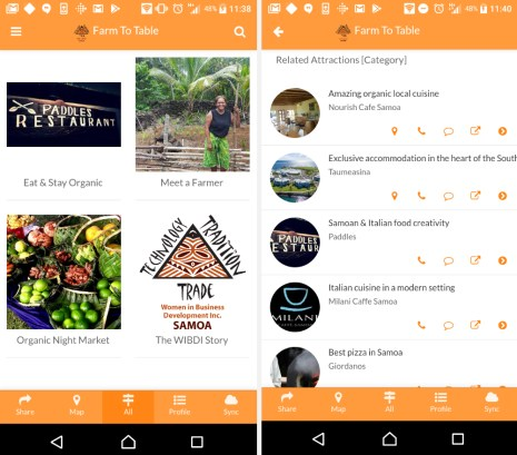 "The ""Organic Farm-to-Table App"", developed by WIBDI, lets tourists and local residents find and select restaurants that serve organic food"