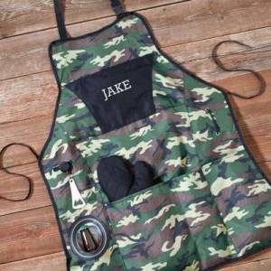 Personalized Camouflage Grilling Apron Set