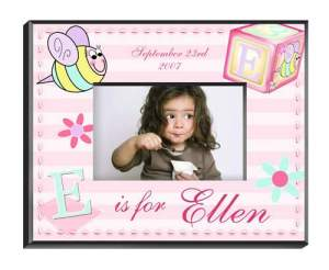 Personalized-Girly-Bee-Picture-Frame