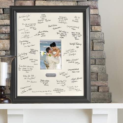 Personalized Wedding Wishes Signature Frame with engraved plate ...