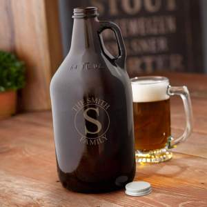 monogrammed-amber-beer-growler-family