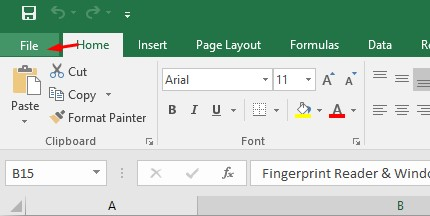 Membuat Password di Microsoft Excel