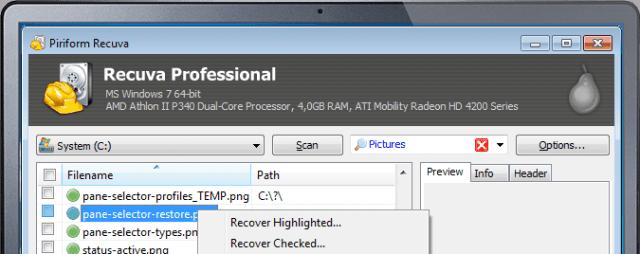 Software Gratis Untuk Mengembalikan File Yang Terhapus