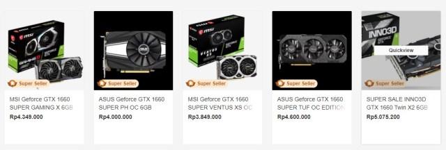 Nvidia GTX 1660 SUPER