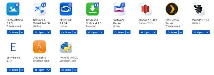 QNAP TS-251+ Apps