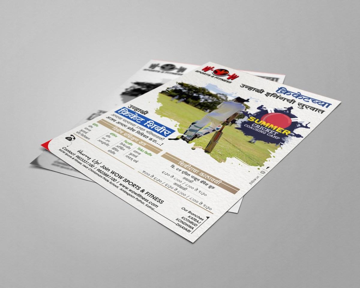Leaflet Presentation design for WOW Sports & Fitness