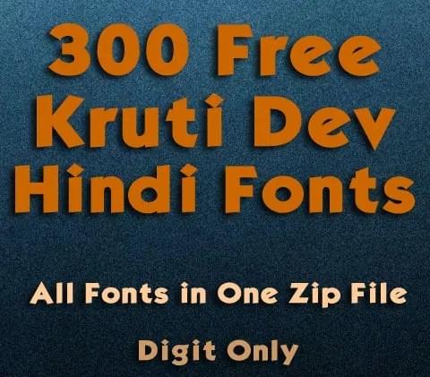 free hindi font zip file