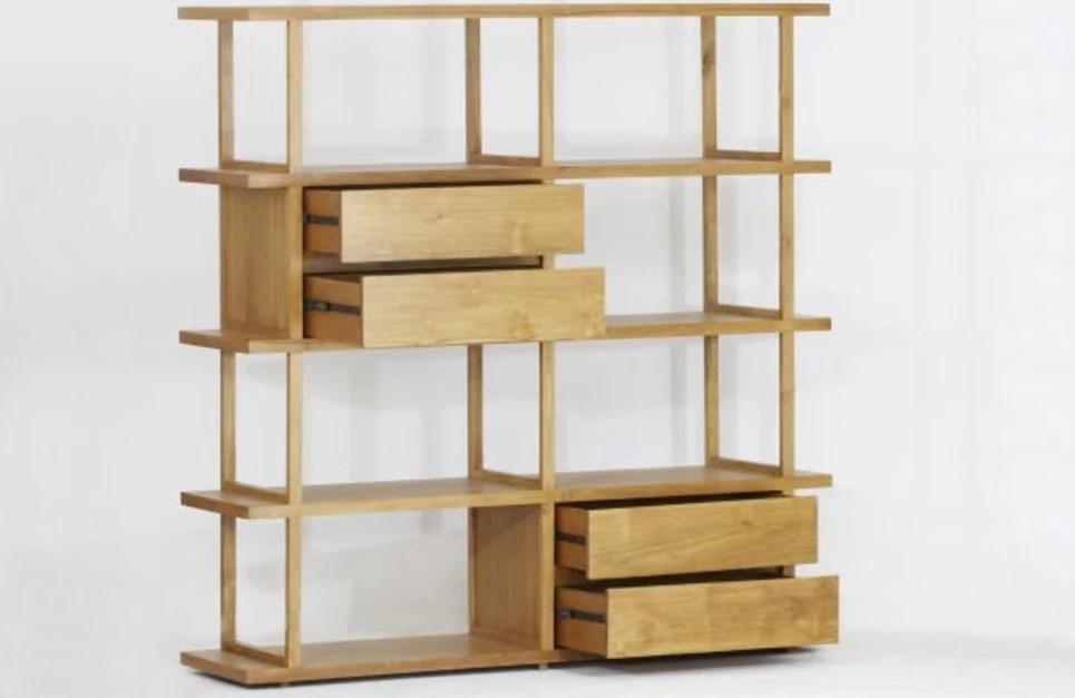meuble etagere bibliotheque en teck massif arch delorm design