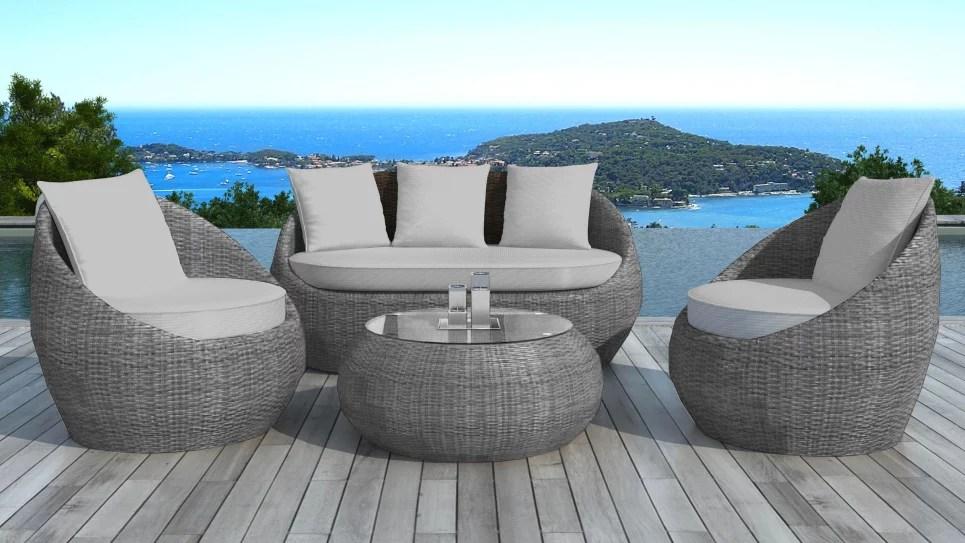 salon de jardin en resine tressee ronde grise malaga delorm design