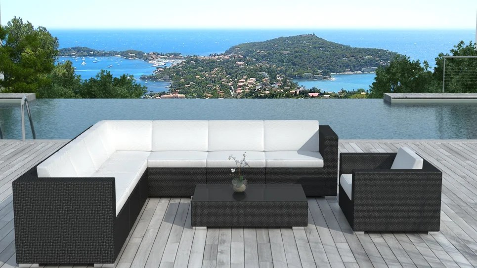 salon de jardin de luxe en resine tressee 8 places