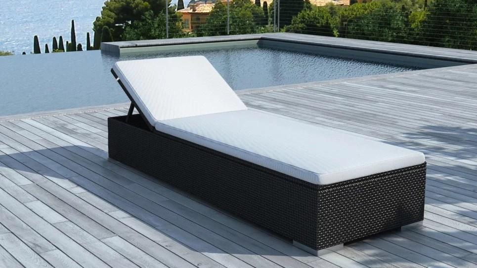 bain de soleil en resine tressee noire dolce delorm design
