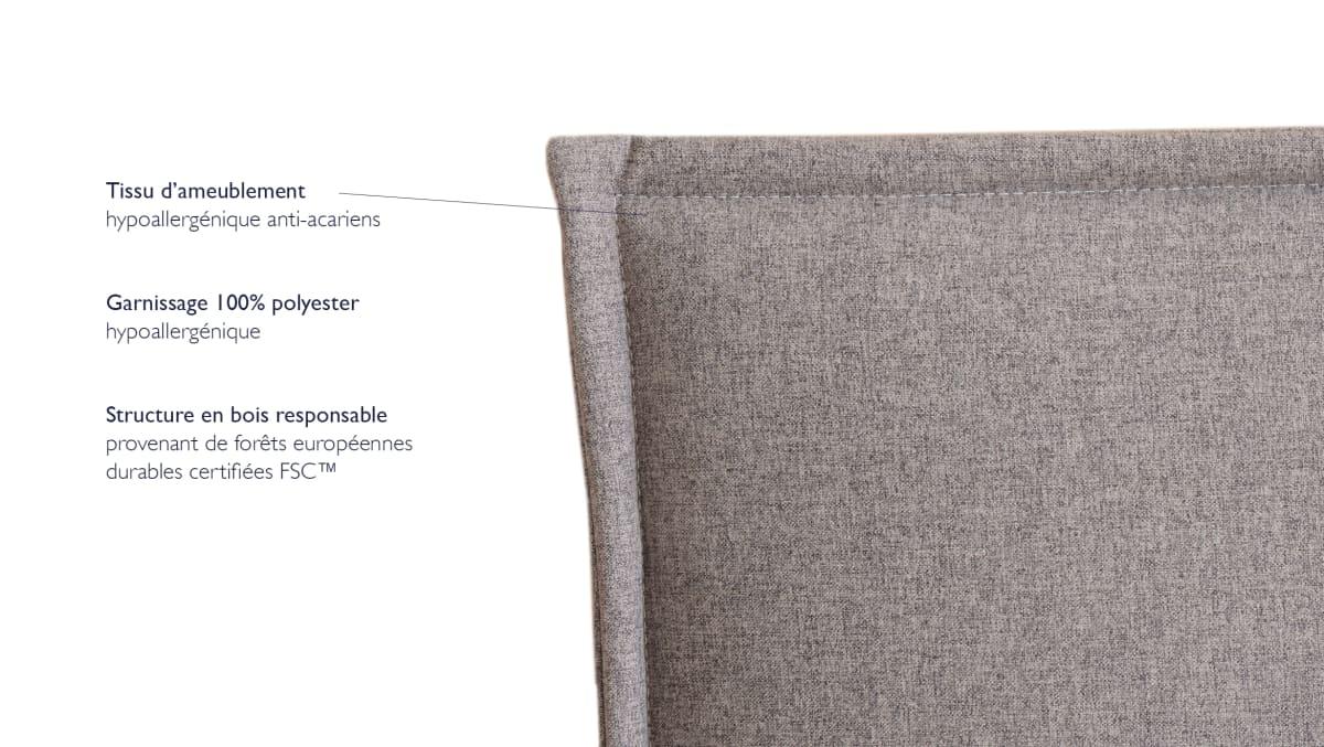 achat tete de lit 140 cm tediber des 180 livraison gratuite