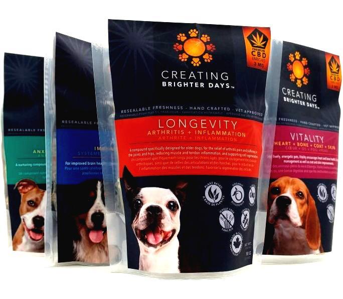 """Creating Brighter Days"" CBD Pet Treats Treats for your animal"
