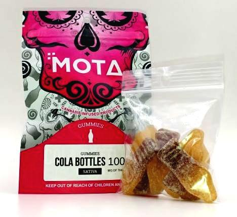 MOTA Cola Bottles 100mg THC Sativa avalaible Pure710