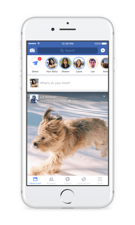 Facebook Stories in Timeline or News Feed