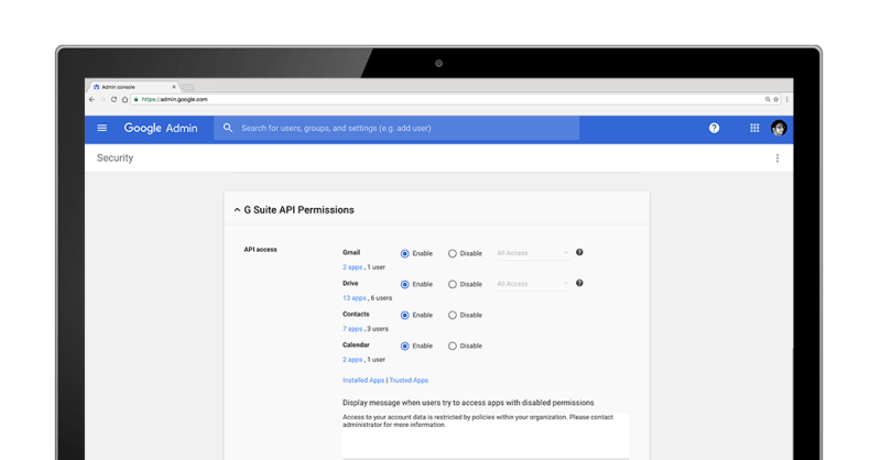 OAuth Apps Whitelisting for G Suite domain