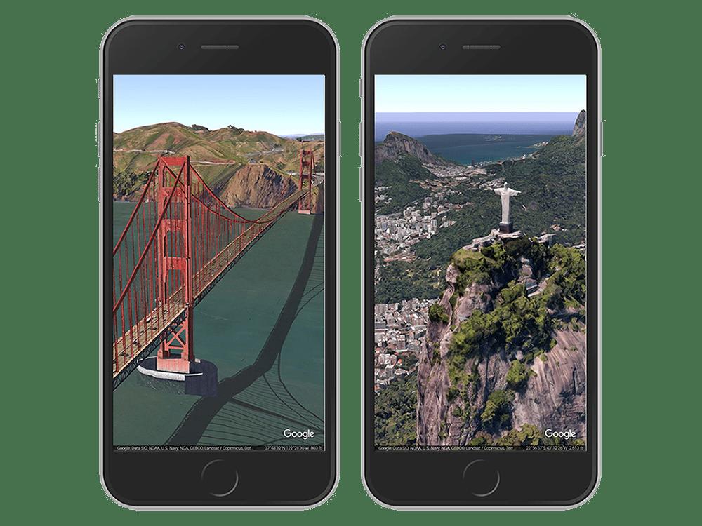 Google Earth iOS Postcards