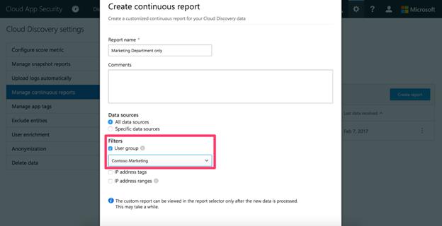 Creating custom report based on Aazure AD user group