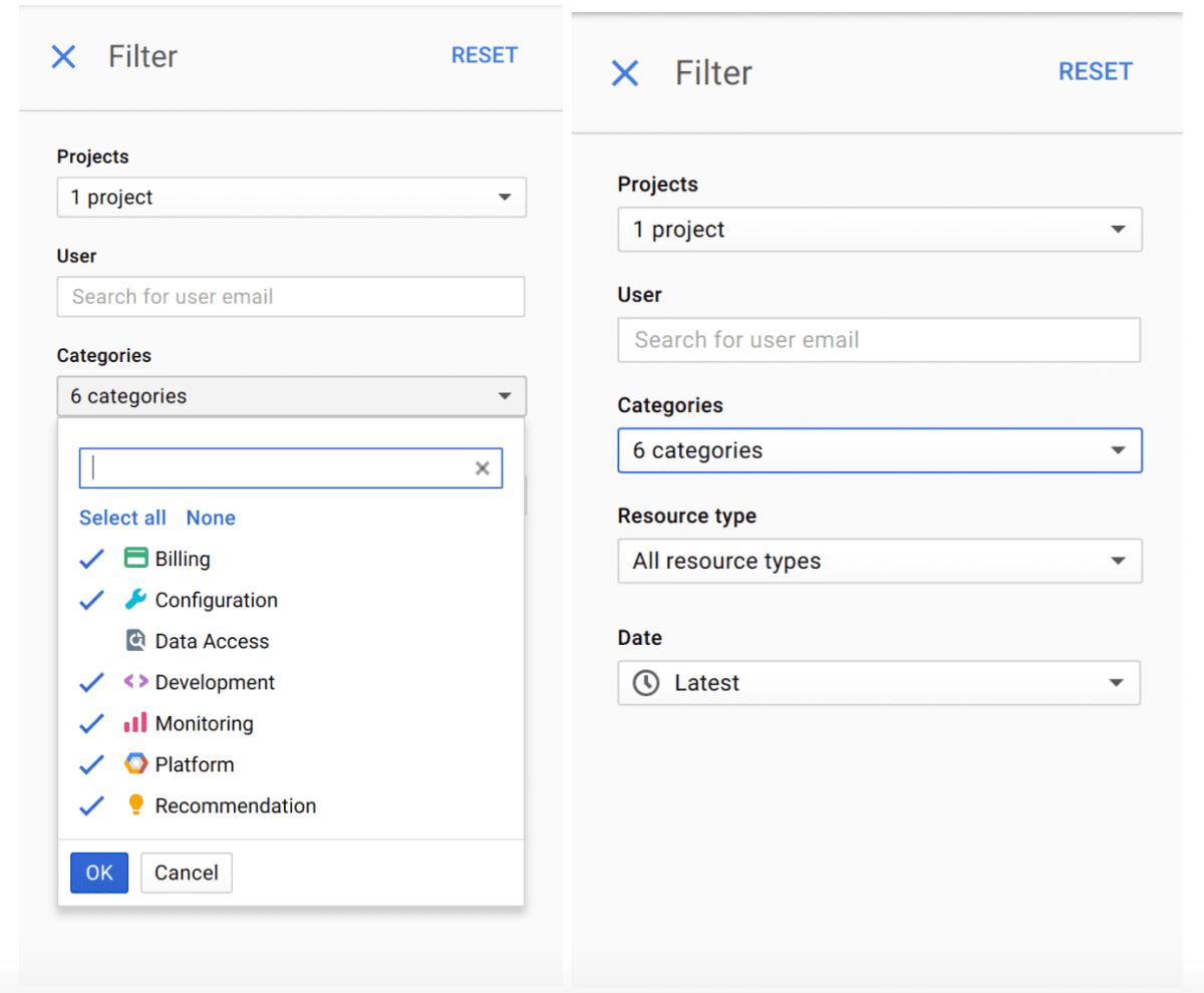 Audit Logging in Google Cloud Console