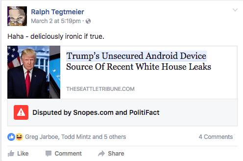 Facebook Disputed Content Alert