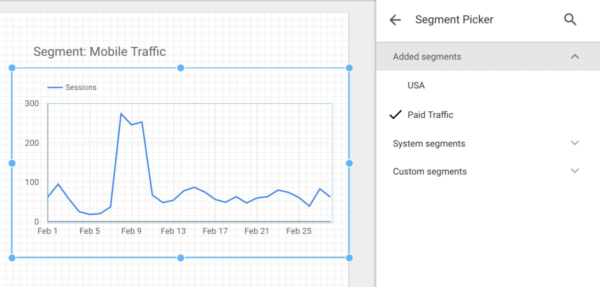 Link Data Studio and Google Analytics segments