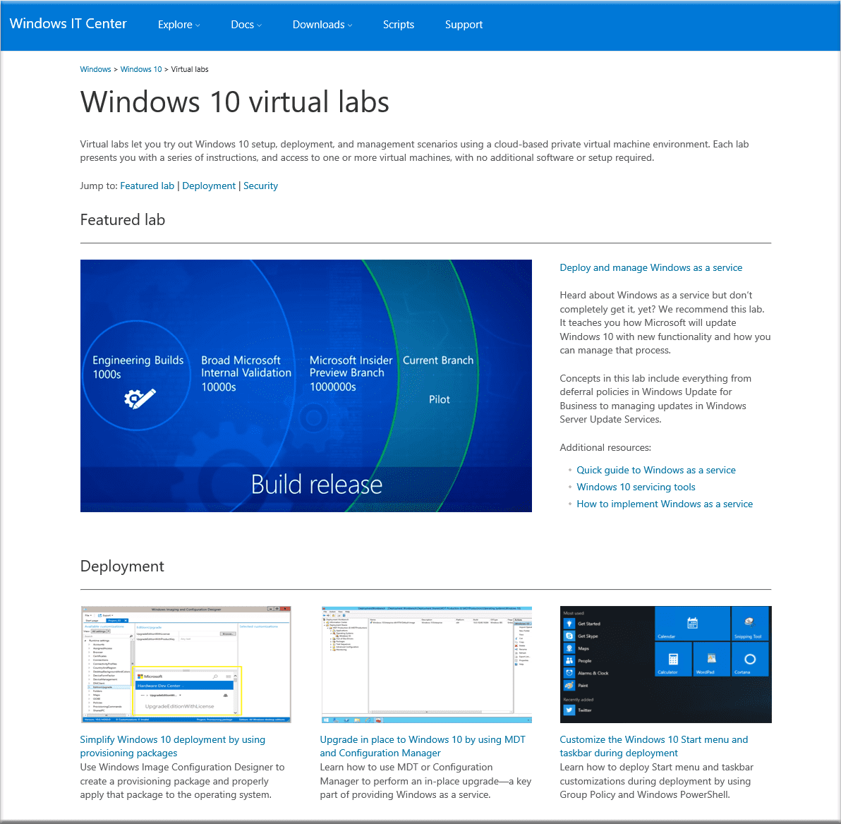 Windows 10 Virtual Labs