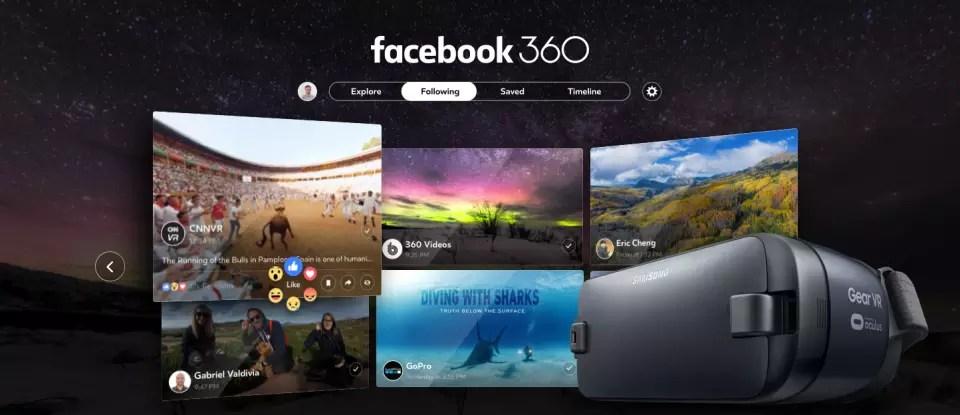 Facebook 360 app for Samsung Gear VR