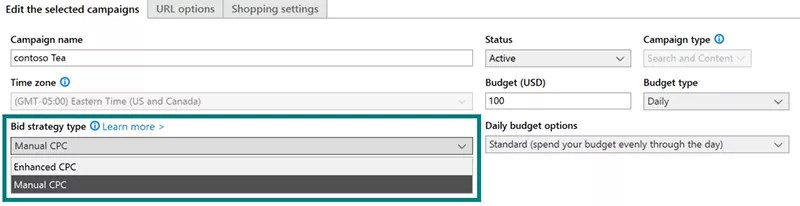 enable ecpc in bing ads editor
