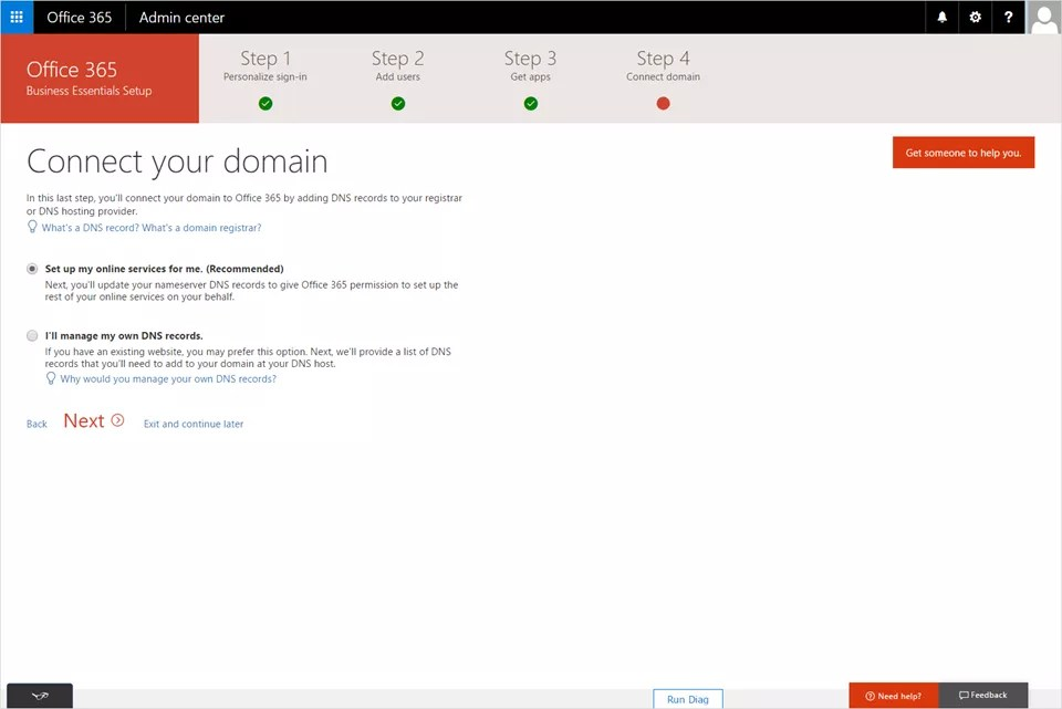 Re-delegation of domain in Office 365