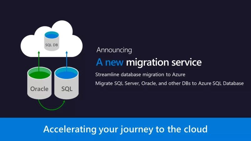 Database migration service for Azure