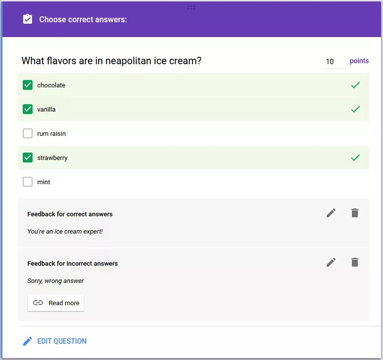 Create Quizzed in Google Forms with Apps Script