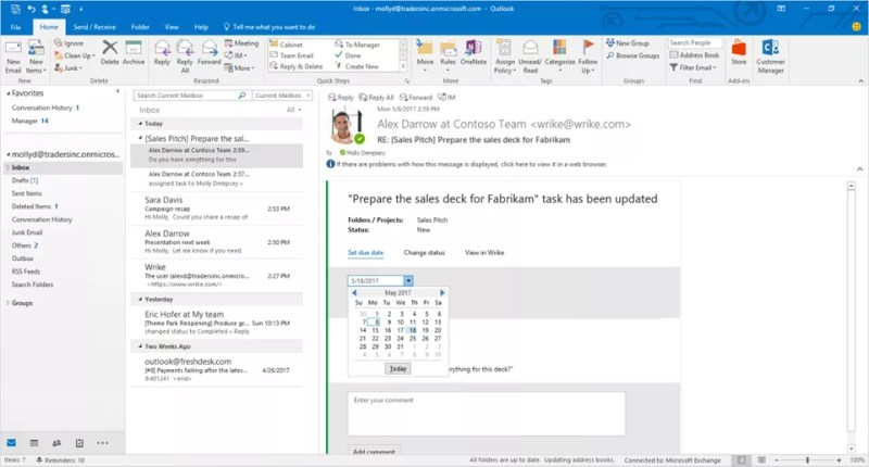 Actionable Messages in Microsoft Teams and Outlook
