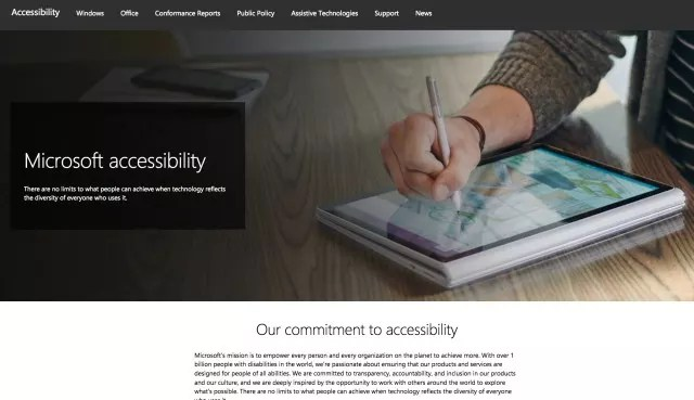 Microsoft Accessibility website