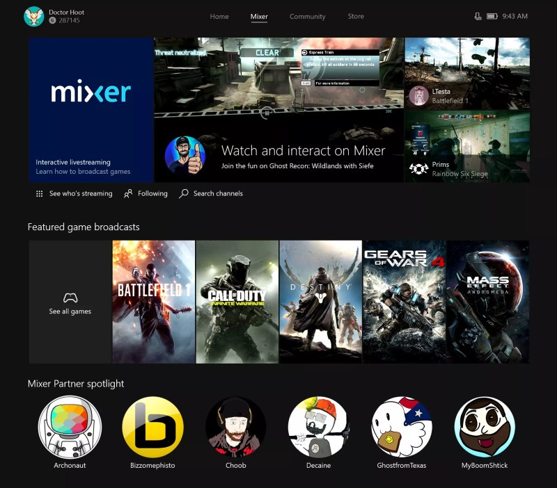 Microsoft Mixer Live-streaming service