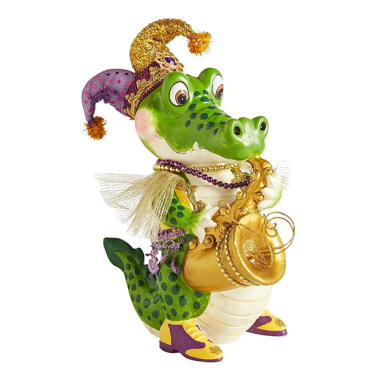 Mardi Gras Boy Gator Tabletop Decor