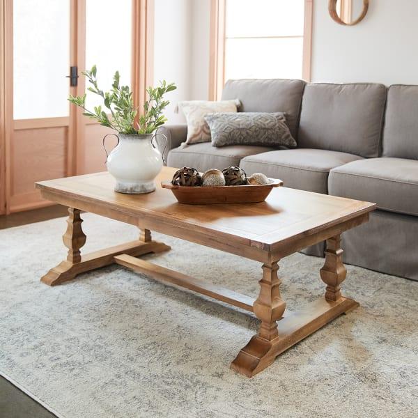 bradding large natural stonewash coffee table