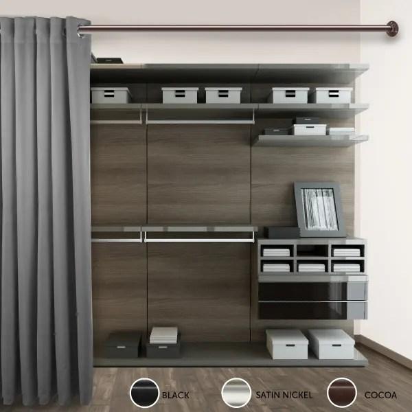 1 5 adjustable room divider rod and socket set 66 115 inch cocoa