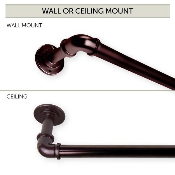 1 inch pipe bay window curtain rod 23 41 41 78 bronze