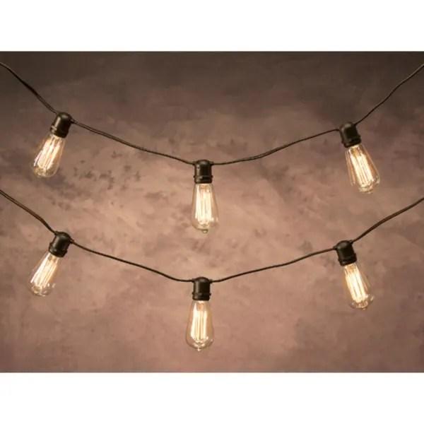 12 cleveland vintage lighting 10 edison light bulb socket cord set black wire