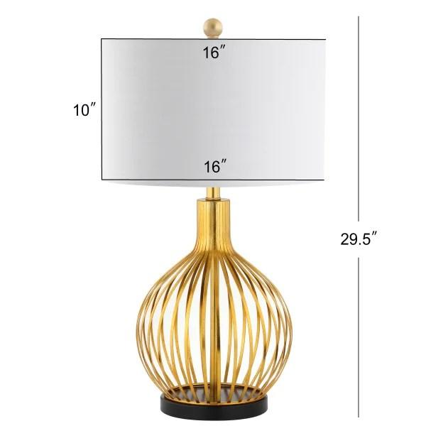 metal table lamp gold leaf