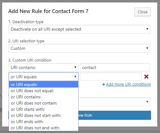custom deactivation rules