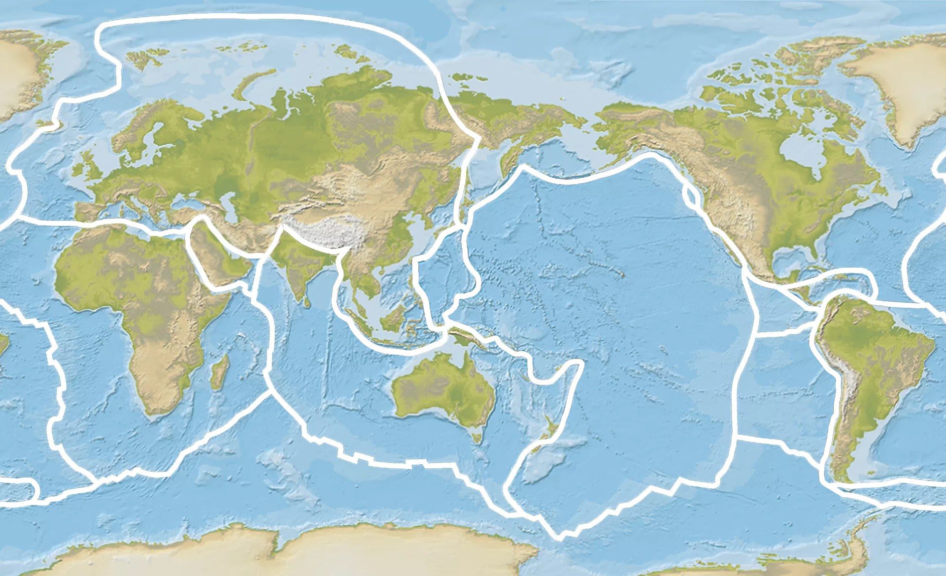 Tectonic Plates Map