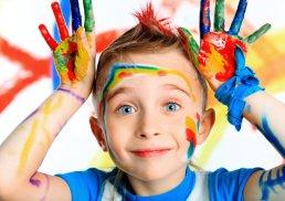 ребёнок в краске