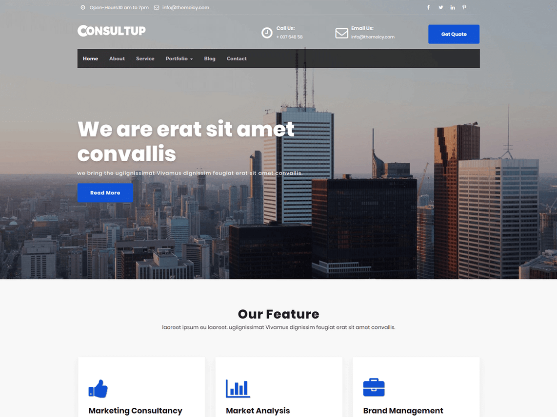 Consultup WordPress Theme