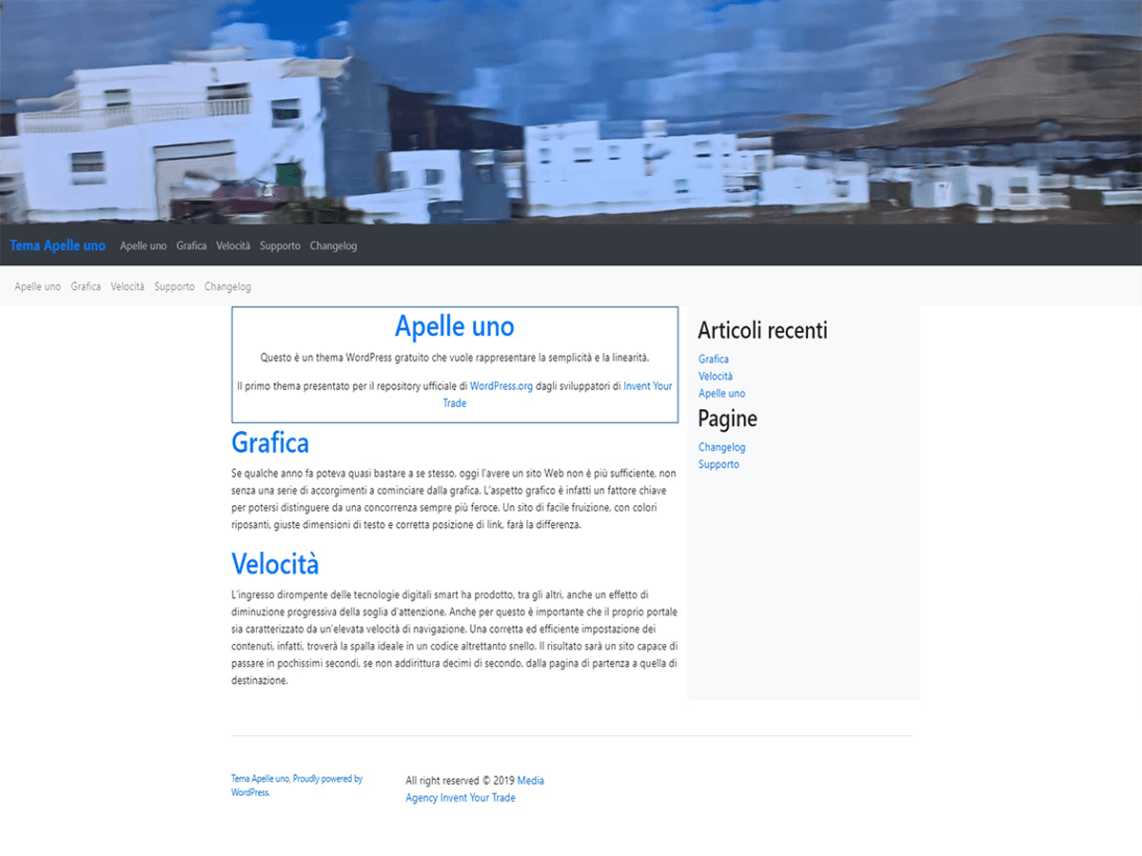 Apelle uno WordPress Theme