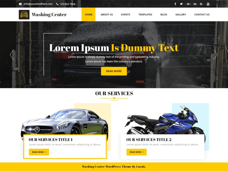 Washing Center WordPress Theme