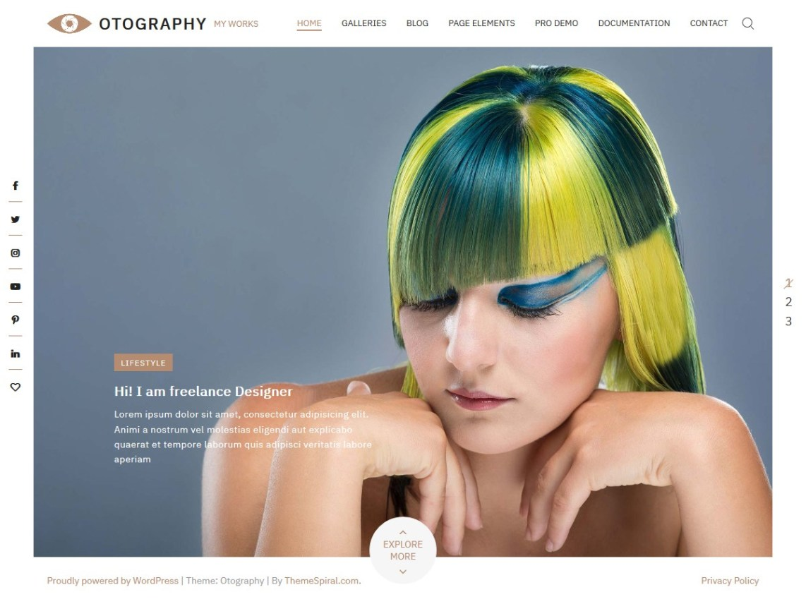 Otography WordPress Theme