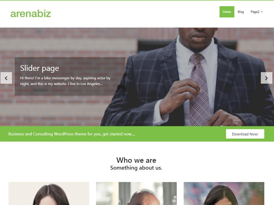ArenaBiz WordPress Theme