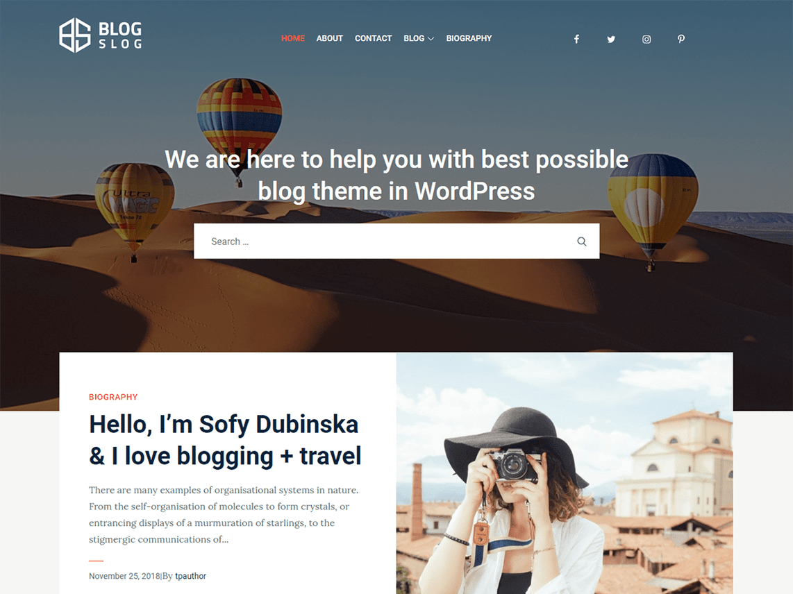 BlogSlog WordPress Theme