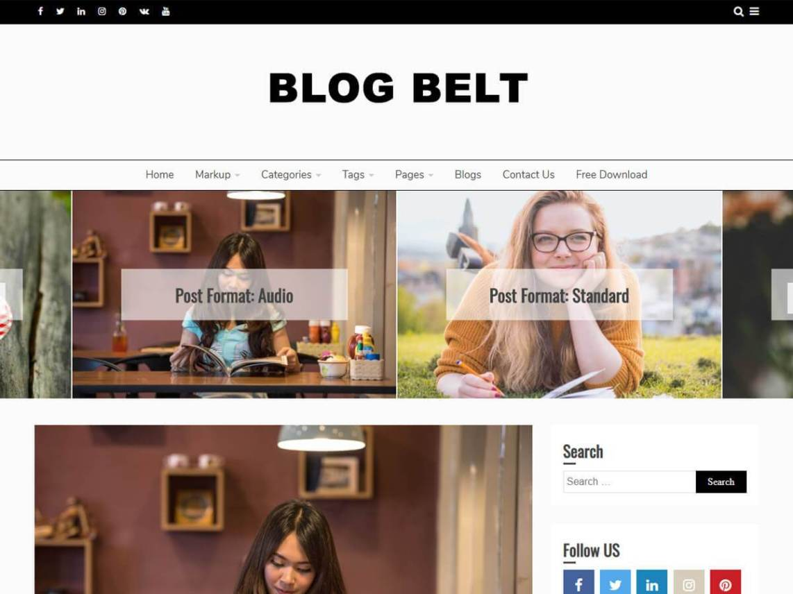 Blog Belt WordPress Theme